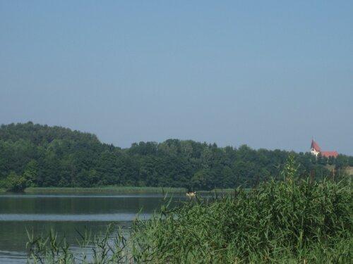 Der See hinter unserem Wohnheim.
