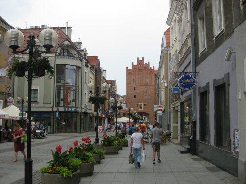 Olsztyn mit Blick auf das Hohe Tor.