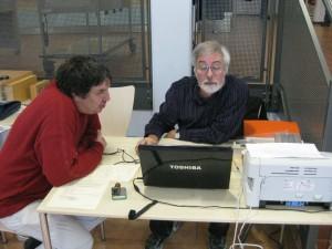 Rolf und Peter organisieren das Turnier