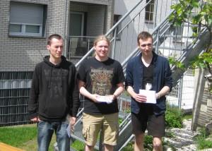 Den ersten Platz teilen sich Christopher Kacwin, André Städtler und Jonas Welticke.