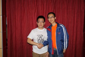 Die Sieger: Zexiang Sui (7d) und Yaqi Fu (6d)