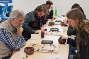 Runde 3: Die Mannschaftskapitäne von Triple-Ko Pivitsheide (Peter) und Ponnuki Paderborn (Joshua)