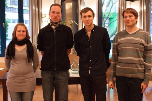 Barbara Knauf, Matthias Terwey, Jonas Welticke, Bernd Radmacher (v.l.)