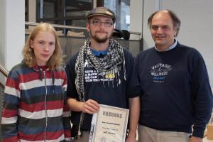 Von links: Timo Weigelt (2. Platz), Timo Budszuhn (1. Platz), Harald Kroll (3. Platz)